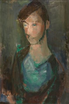 amare-habeo:  Hippolyte Daeye(Belgian, 1873-1952) Woman with toque, N/D