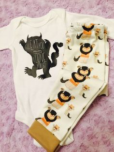 Where the wild things are. Baby boy. Baby girl. Gender neutral. Baby outfits. Baby shower gift. by LittleLoviesChic on Etsy https://www.etsy.com/listing/265605430/where-the-wild-things-are-baby-boy-baby