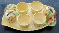Carlton Ware Egg Cup / Cruet Set