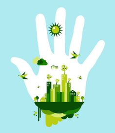 Go green city hand concept. People hand and green city town on blue sky backgrou , First Earth Day, Tree Clipart, Energy Projects, Medical Illustration, Greenhouse Gases, Carbon Footprint, Go Green, Mother Earth, Art Images