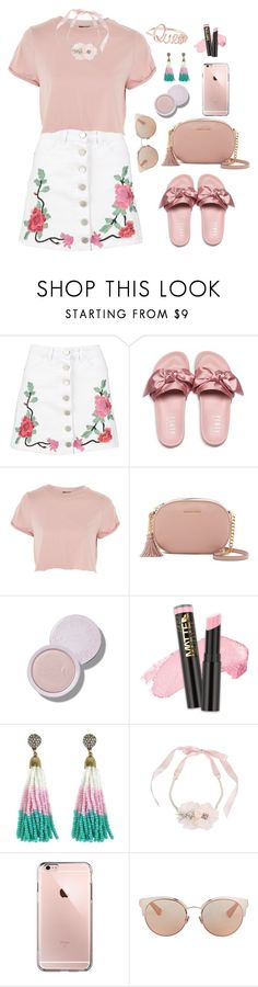 """Untitled #2153"" by ebramos ❤ liked on Polyvore featuring Boohoo, Puma, Topshop, MICHAEL Michael Kors, L.A. Girl, Betsey Johnson and Christian Dior"