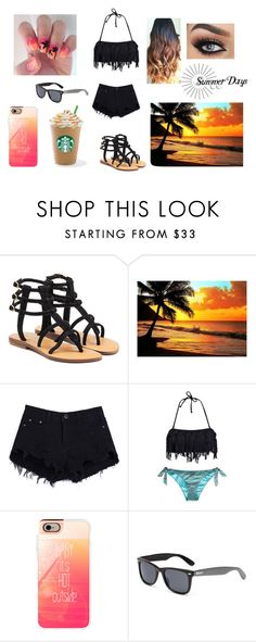"""""""Summer"""" by raiders-fan ❤ liked on Polyvore featuring Mystique, Phax, Casetify and Roxy"""
