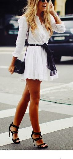 Love this white dress.