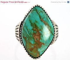 Sale Navajo Sterling Silver & Turquoise Men's by Yourgreatfinds