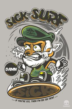 Sick of Surf by Jira Jiramakorn, via Behance
