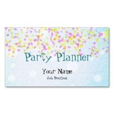 Party planner business card my zazzle products pinterest products party planner business card colourmoves