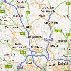 Harpenden, Hertfordshire,England: Lived there! Hemel Hempstead, Stevenage, St Albans, 3 Months, Castles, England, Map, Spaces, Amazing