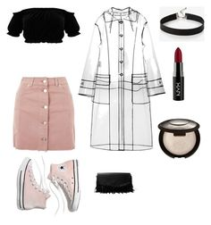 """Untitled #25"" by sofiaskvrekova on Polyvore featuring Topshop, Miu Miu, Iris & Ink, Express, NYX and Madewell"