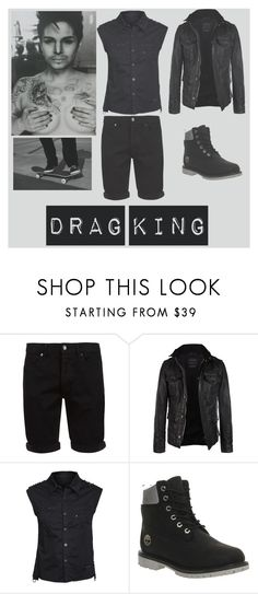 """Drag King"" by night-freak ❤ liked on Polyvore featuring Topman, AllSaints and Timberland"