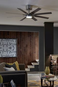 The Modern Empire Ceiling Fan By Monte Carlo Makes An Impressive Statement In A Family Or