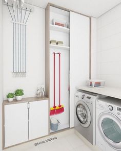 Browse laundry room ideas and decor inspiration for small spaces. Custom laundry rooms and closets, including utility room organization & storage ideas. Laundry Room Cabinets, Laundry Room Organization, Laundry Storage, Small Laundry Rooms, Laundry Room Design, Laundry Area, Küchen Design, House Design, Design Ideas