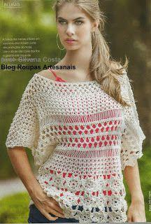 Roupas Artesanais: Blusa Croche De Grampo ( atelie Circulo)