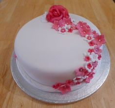 Simple, but nice/ Flower Cake