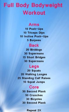 50 trendy full body weight workout at home health fitness Reto Fitness, Body Fitness, Fitness Tips, Fitness Motivation, Health Fitness, Physical Fitness, Exercise Motivation, Health Diet, Full Body Bodyweight Workout