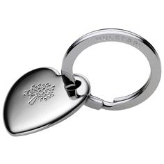 Heart Keyring in Silver Metal by Mulberry