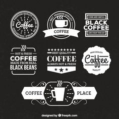 More than a million free vectors, PSD, photos and free icons. Exclusive freebies and all graphic resources that you need for your projects Coffee Shop Branding, Coffee Shop Logo, Coffee Label, Coffee Shop Design, Menu Design, Cafe Design, Logo Design, Retro Logos, Vintage Logos