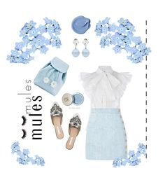 BluePassion🦋 by anna-offical on Polyvore featuring polyvore, fashion, style, Balmain, Sugarbaby, Miu Miu, Oscar de la Renta and clothing