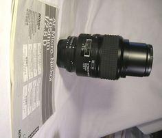 Mint Nikon AF Micro-Nikkor 105mm f/2.8 D Camera Lens W/ Instructions & Caps NR #Nikon