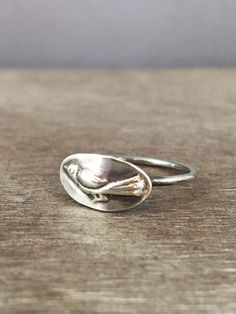 Prox - - Bird ring  sterling silver ring  delicate ring  made to order #etsymetalteam