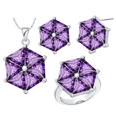 Find More Jewelry Sets Information about Uloveido Cute Umbrella Bridal Jewelry Sets with Stones Silver Plated Purple Crystal Necklace Set Earrings Ring for Women T579,High Quality ring cicada,China ring skin Suppliers, Cheap ring tin from Uloveido Official Store on Aliexpress.com