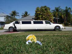 white Limousine Wedding