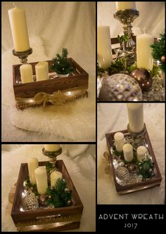 Me and my Girlfriend made this Advent Wreath. We wanted to make a different kind of wreath this year :-)
