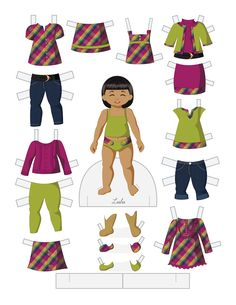 Paper Doll School: Toddler Fashion Friday - Lulu Black / African-American / people of color paperdolls