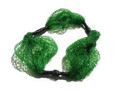 Paula Lindblom Necklace: Untitled, 2015 Fruit nets, plastic tubes