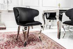 MODERN BAROCK II fekete szék  #lakberendezes #otthon #otthondekor #homedecor #homedecorideas #homedesign #furnishings #design #ideas #furnishingideas #housedesign #livingroomideas #livingroomdecorations #decor #decoration #interiordesign #interiordecor #interiores #interiordesignideas #interiorarchitecture #interiordecorating #velvet #velvetchair #velvetsofa Dining Room Table Decor, Dining Room Design, Dining Chairs, Design Baroque, Modern Baroque, Chaise Baroque, Design Transparent, Elegant Dining, Metal Furniture