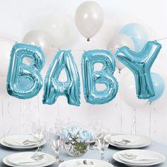 "Baby Ballon Banner Kit, 14 "", Blue Baby Letter Ballon, nur Luftfüllung - New Sites Baby Shower Decorations For Boys, Boy Baby Shower Themes, Baby Shower Balloons, Baby Shower Centerpieces, Baby Shower Parties, Baby Shower Gifts, Boy Baby Showers, Baby Ballons, Boy Baby Shower Cakes"