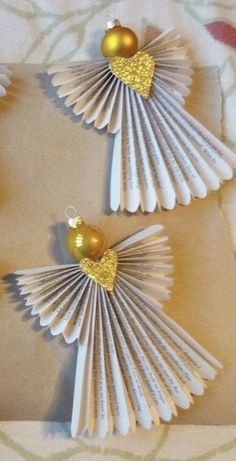 Christmas Ornament Crafts, Christmas Decorations To Make, Christmas Angels, Christmas Art, Holiday Crafts, Homemade Christmas, Diy Christmas Gifts, Christmas Projects, Angel Crafts
