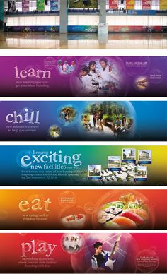 Construction hoarding design Environmental Graphic Design, Environmental Graphics, Creative Banners, Creative Words, Hoarding Design, Office Wall Design, Unique Wallpaper, Creative Advertising, Fence Design