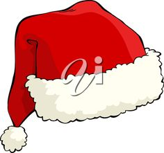 iCLIPART - Clip Art Illustration of a Santa Hat