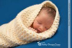 Ashley Designs Corner: Snuggle Bug Cocoon Baby Crochet Pattern-FREE