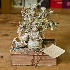 Anonymous artist.  Makes these sculptures out of books and leaves them in an Edinburgh library.