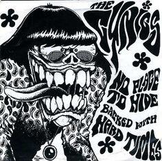 """The Cynics (USA)-Dionysus 7"""" 2 temas 1985 Existen dos reediciones con portadas naranja/amarillo y vinilo amarillo  Art: Paul Bucarelli"""