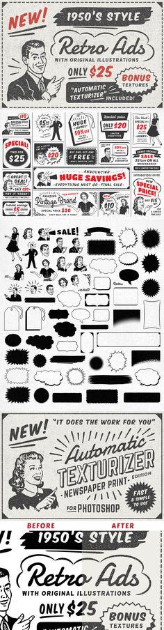 District 62 Studio 1950s Style Retro Ad Templates (The Complete Vintage Designer's Kit)