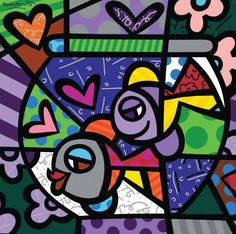 Romero Britto e la sua arte neo-pop Arte Pop, Pop Art, Classroom Art Projects, Arte Country, Graffiti Painting, Colorful Paintings, Fish Paintings, Mural Art, Cubism