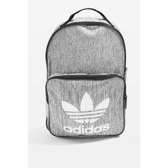 Classic Backpack by Adidas Originals ($52) ❤ liked on Polyvore featuring bags, backpacks, topshop, grey, gray bag, gray backpack, top handle bags, grey bag and padded bag