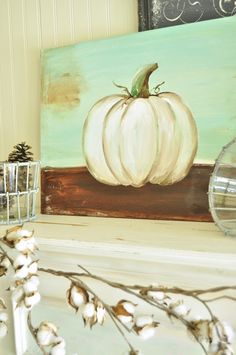 How to paint a pumpkin canvas, art skills not required!