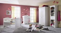 CINDERELLA Premium Kinderzimmer/Babyzimmer 3-teilig - Kiefer, weiss bestehend aus Babybett,Kleiderschrank und Wickelkommode. Mehr auf massive-naturmoebel.de