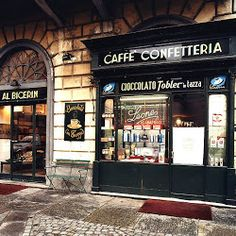 Day 6 Al Bicerin's for a Bicerin in Turin - A chocolate Coffee traditional to the area.
