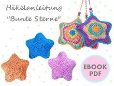 Little STARS ~ pendants, pincushion, softtoy, christmas decoration ~ PDF crochet pattern