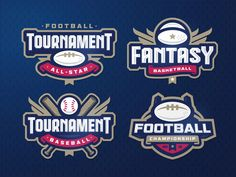 Sport logos templates by Stanislav on Dribbble