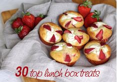Find the best lunch box treat ideas with these easy and oh-so-yummy lunch box snack recipes. Your kids will love you for it! Yummy Lunch Box, Cool Lunch Boxes, Lunch Box Recipes, Snack Recipes, Cooking Recipes, Savory Snacks, Lunch Snacks, Almond Muffins, Fast Easy Meals
