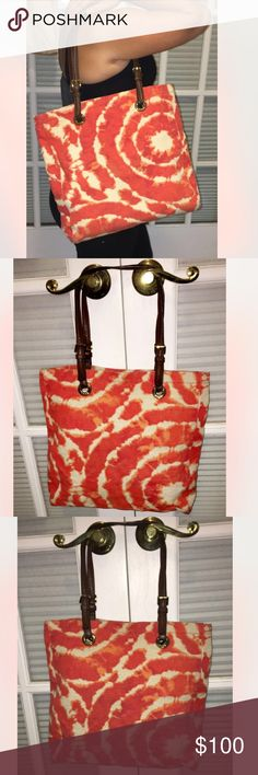 """Large Tie dye Michael Kors Tote Authentic tie dye Tote by Michael Kors . In great condition , pre owned. Leather straps and gold hardware.                                                                 Bag measurements :   🛍 Length 13.5"""" ;  Height 13"""" ;  Depth 4"""" ; Drop 10"""" MICHAEL Michael Kors Bags Totes"""