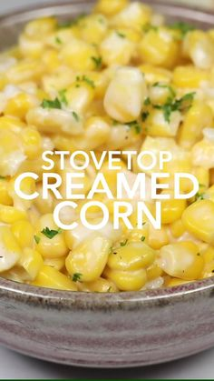 Stove Top Creamed Corn