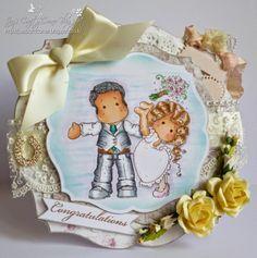 Jay's Crafty Corner: I Made My Own Magnolia Wedding Couple!!!