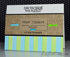 Unscramble This - see the video tutorial!