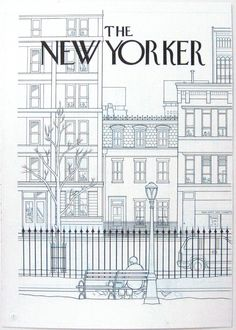 Illustration by Chris Ware (an earlier description attributed this to Saul Steinberg. Could not possibly be the late artist's work.)